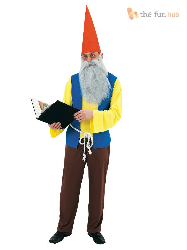 Details About Mens Garden Gnome Dwarf Costume Fairy Tale Dwarves