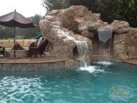 swimming pools with slides and waterfalls | 15. Rock ...