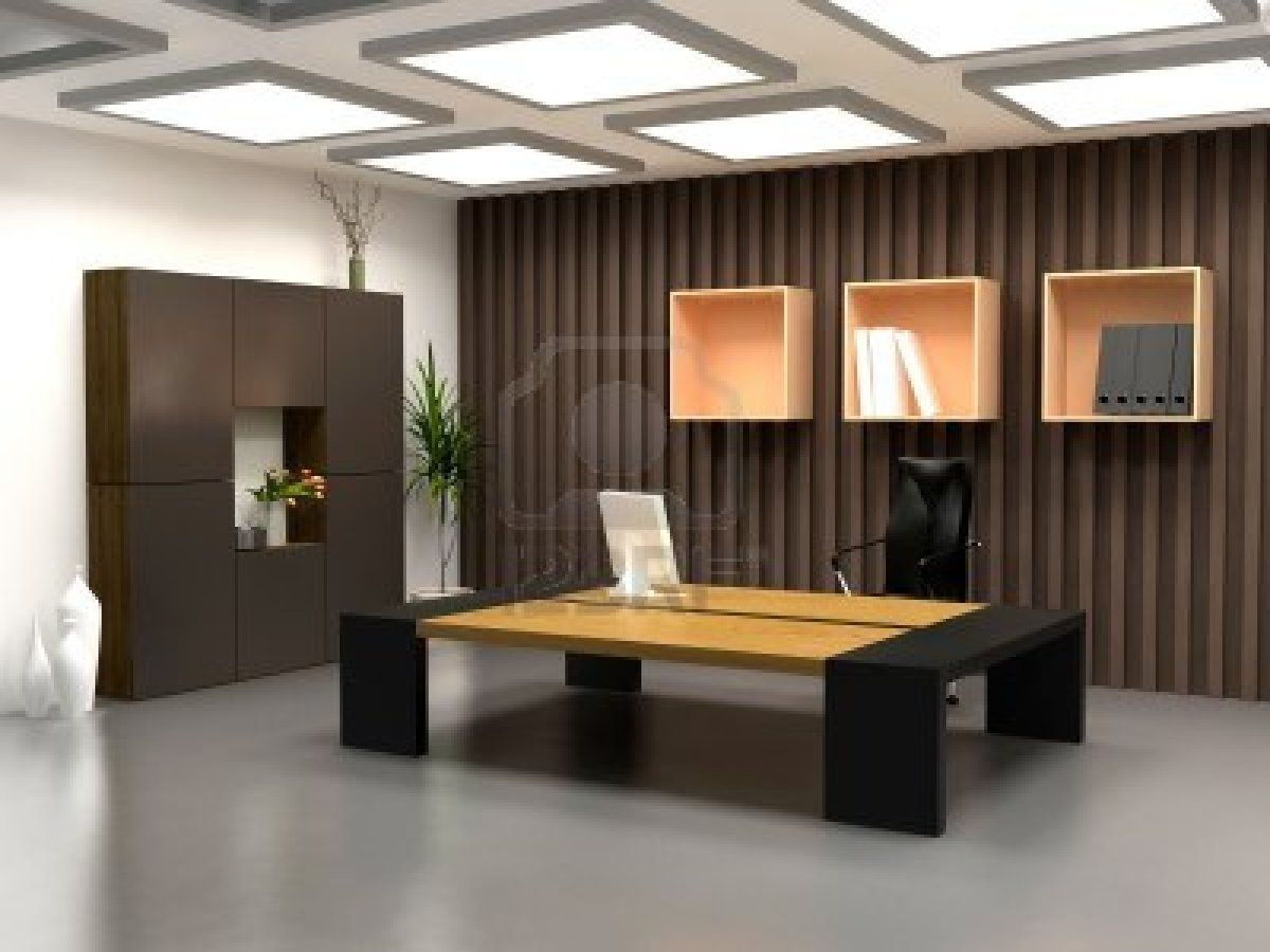 The modern office interior design 3d render  Office  Pinterest  Office interiors Interior design inspiration and Interiors