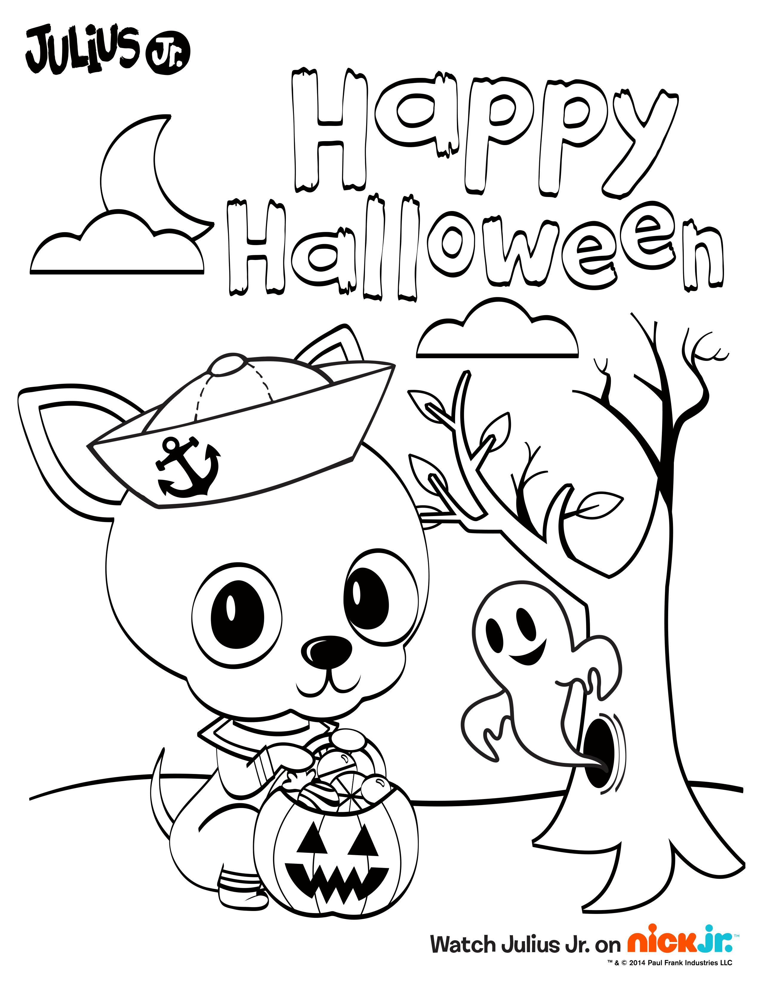 Halloween Chachi! Enjoy this fun Julius Jr. printable