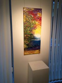 Large vertical wall art - Canvas Vertically Long painting ...