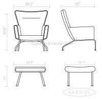 Wing Chair Dimensions | Repurposed Furniture | Pinterest ...