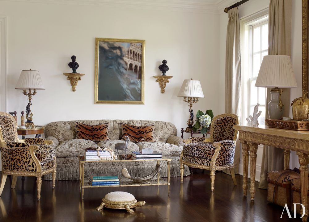 Alex papachristidis  living room wall displays two roman bronze busts from kentshire and mona kuhn photograph of venice the leopard print silk velvet also traditional by in bridgehampton new rh pinterest