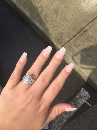 Coffin shaped acrylics. French ombre | Nails | Pinterest ...