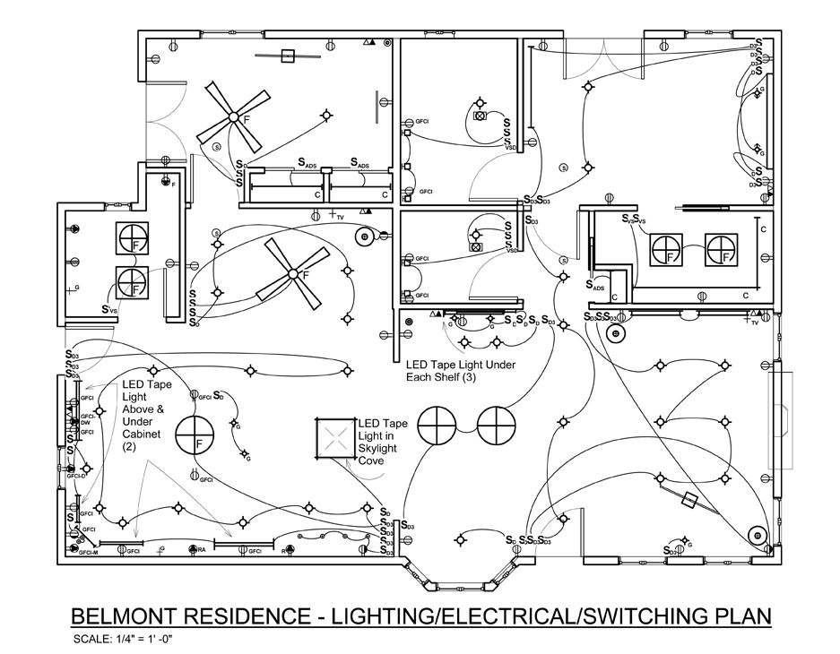 Electrical Plan Of A Hotel
