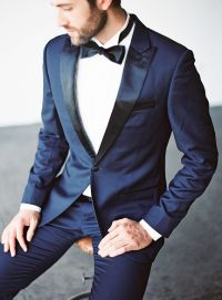 Midnight Blue groom tux