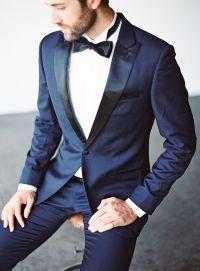 Midnight Blue groom tux || Stylish groom || The Black Tux ...