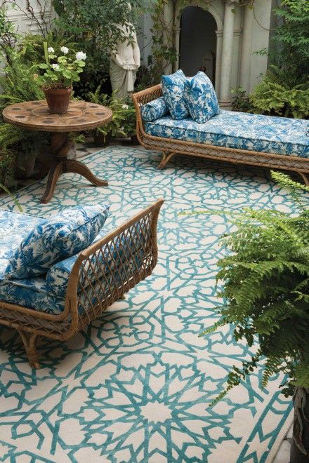 cheap chaise lounge chairs sideline for soccer this has inspired me to paint the disgusting concrete in garden and stencil a pretty design ...