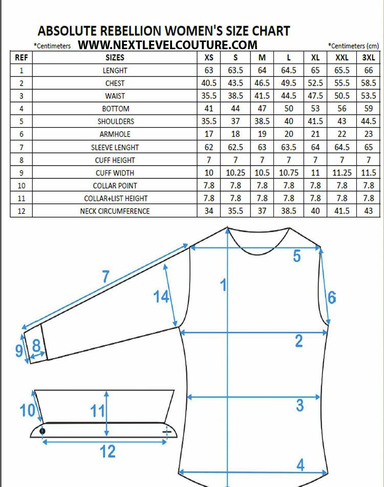 how to measure jacket size chart