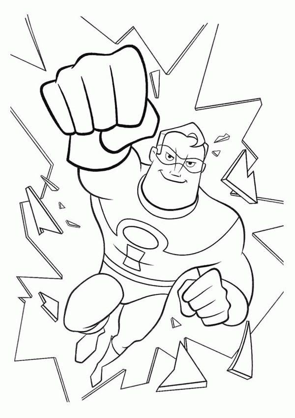 Mr Incredible Coloring Pages Sketch Coloring Page