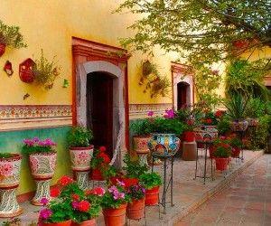Mexican Garden And Flowers Wallpaper Mexican Decor Pinterest