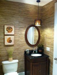 Small bath solution. Seems elegant. Tropical Powder Room ...