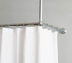 L Shaped Shower Curtain Rod Home Shower Curtains Shower Curtain