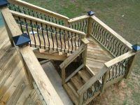 deck stairs with landing design | by Distinctive Designs 4 ...