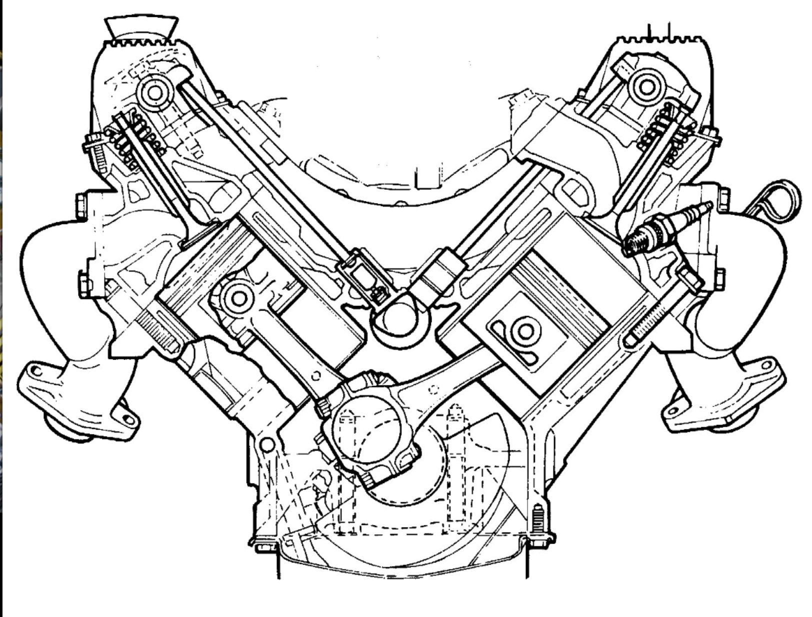 A Sectional View Of The Rover V8 Engine A Masterpiece Of Design
