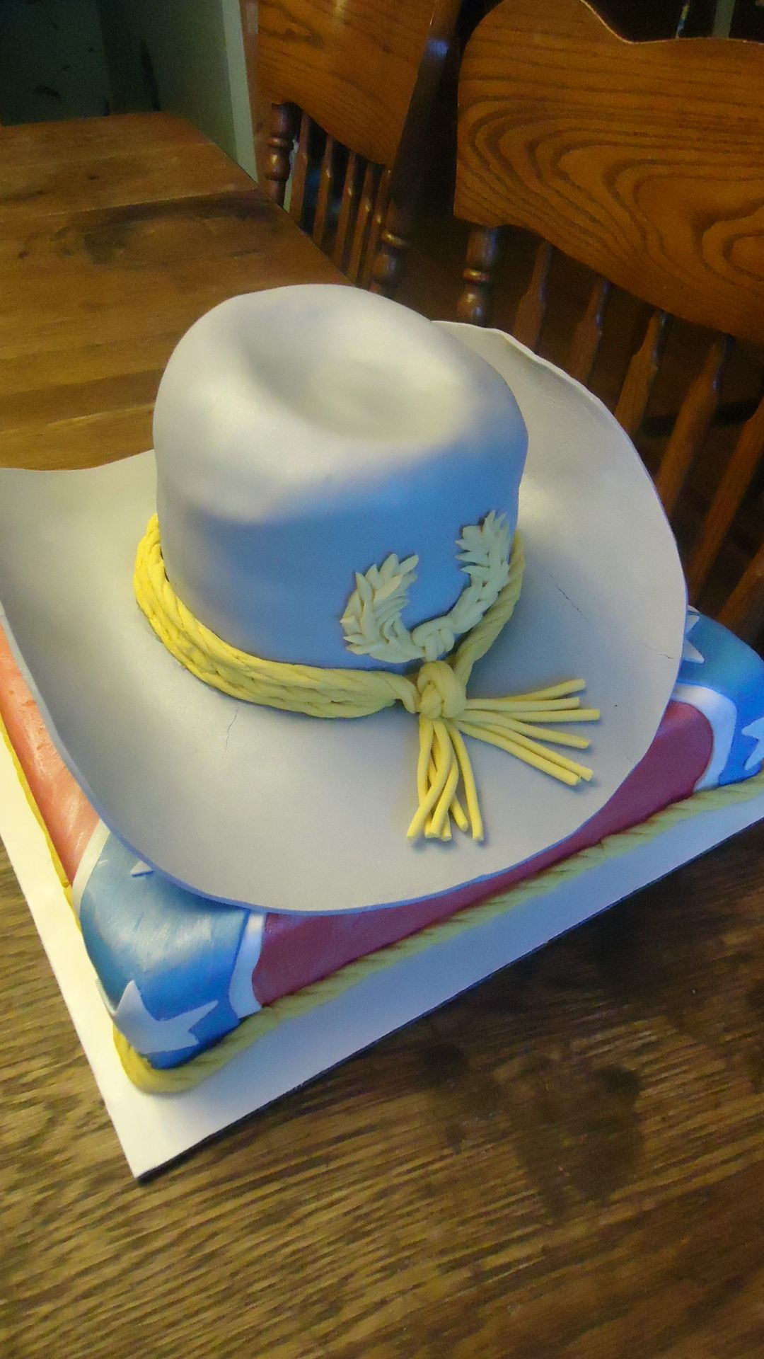 Confederate Hat And Flag Cake