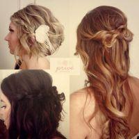 Knots twists braids waterfall braid loose waves wavy