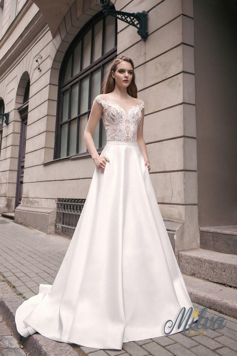 Off the shoulder illusion sweetheart neckline embellishment bodice a line wedding dress sweep train #wedding #weddingdress #weddinggown