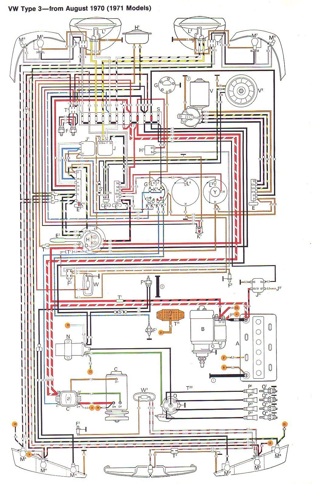 71 VW T3 Wiring Diagram Ruthie Pinterest Volkswagen Engine