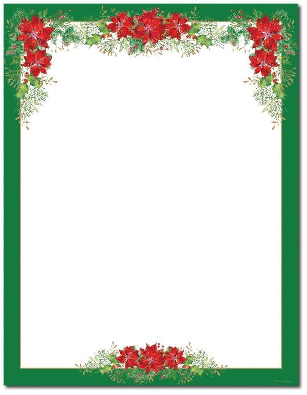 poinsettia valance letterhead