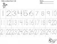 Free Number Writing Practice WorksheetsHandwriting ...