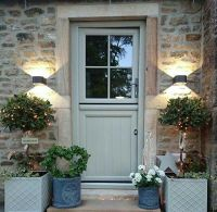 Front Door in Farrow and Ball Pigeon | Country Style ...