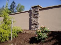 stucco retaining wall | Help choose retaining wall ...