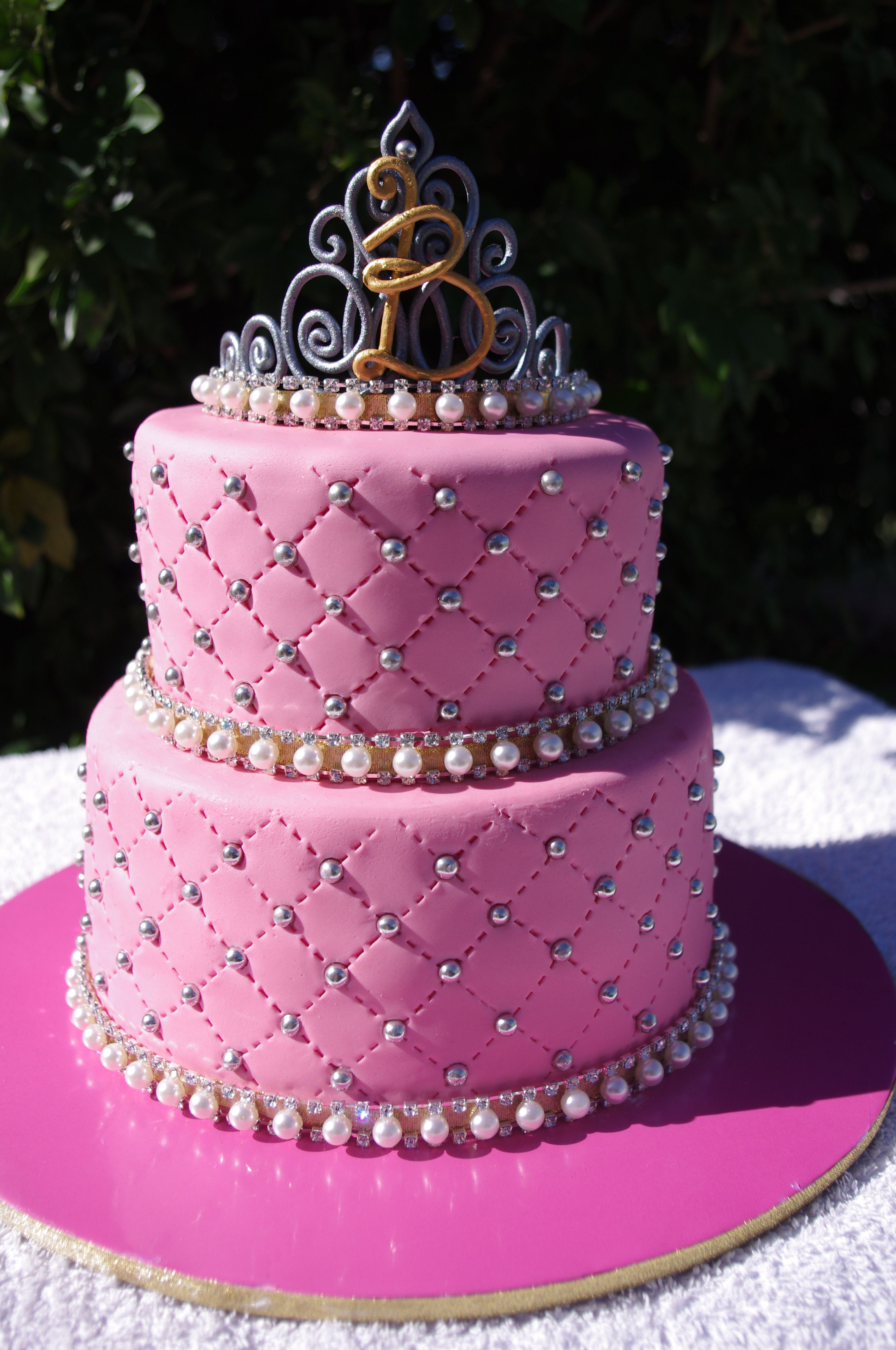 Bling Amp Tiara Cake