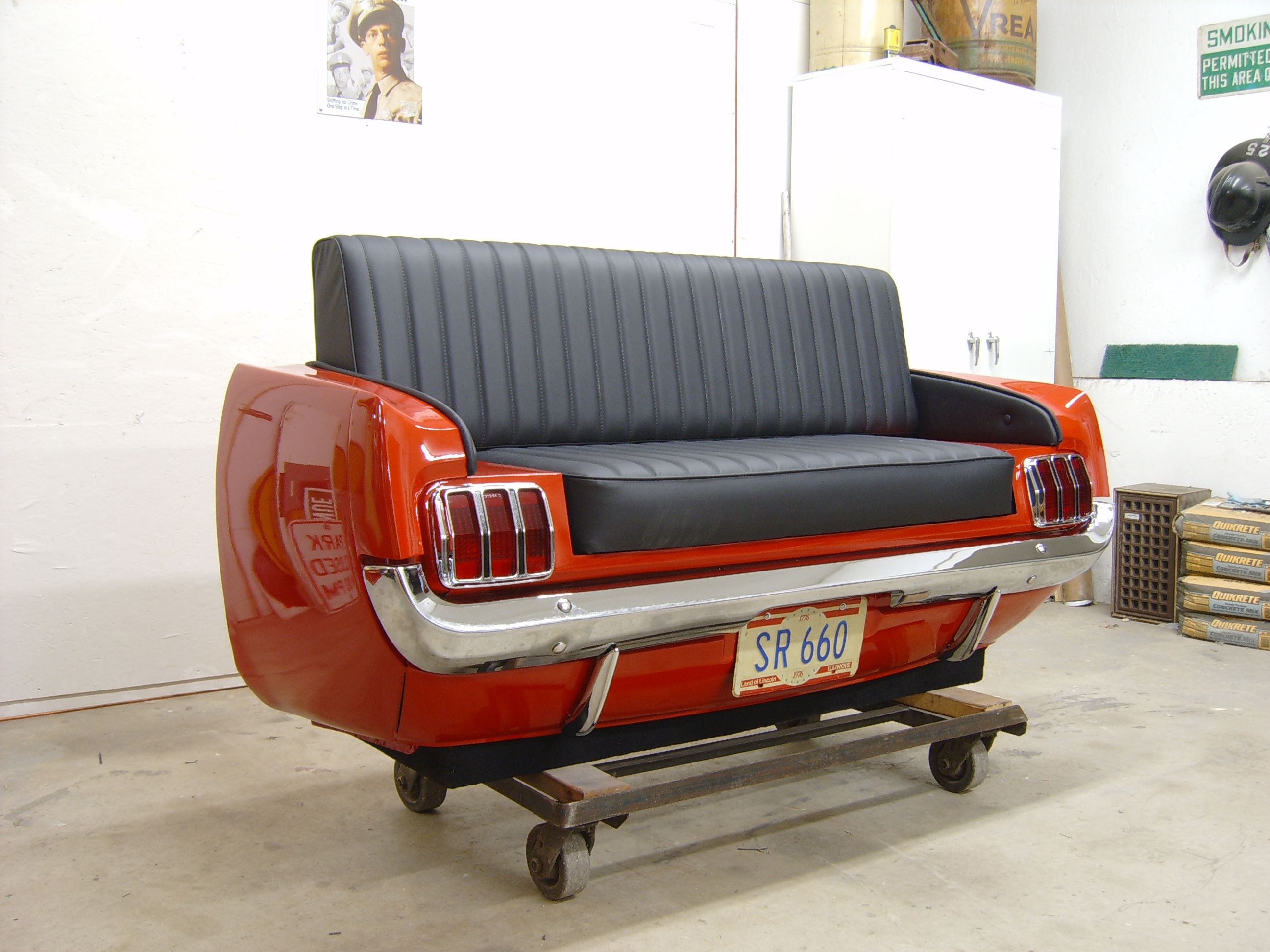 cars sofa chair slipcovers for queen size sleeper sofas 65 ford mustang couch they start at 3000 bucks ahhh