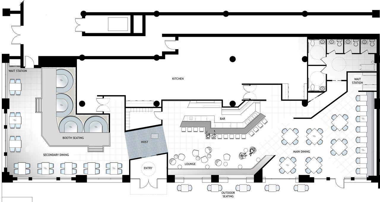 Architect Restaurant Floor Plans - Google Search