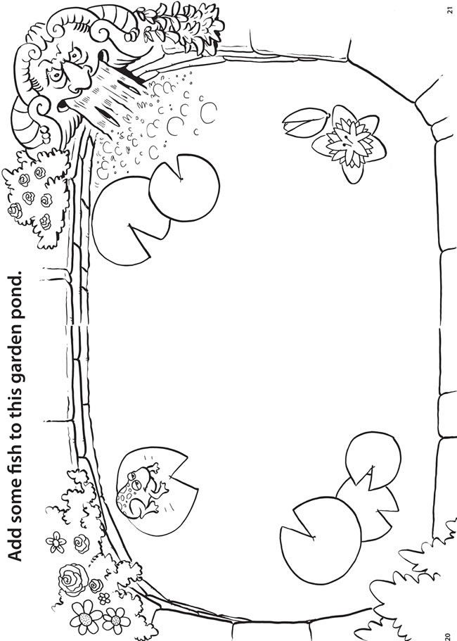 finish the coloring page by adding your own pictures