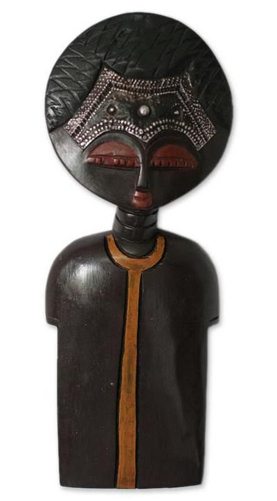 Hand carved african wall sculpture good heart ii novica also  rh pinterest