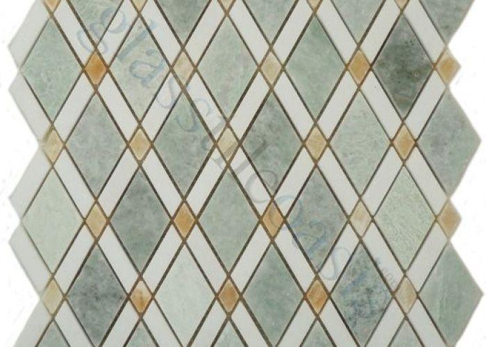 My tile backsplash diamond series marble mosaic ming green thassos white  also euro glass kitchen light polished