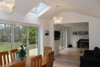2 x Sets of bi-fold doors onto decked area with skylights ...