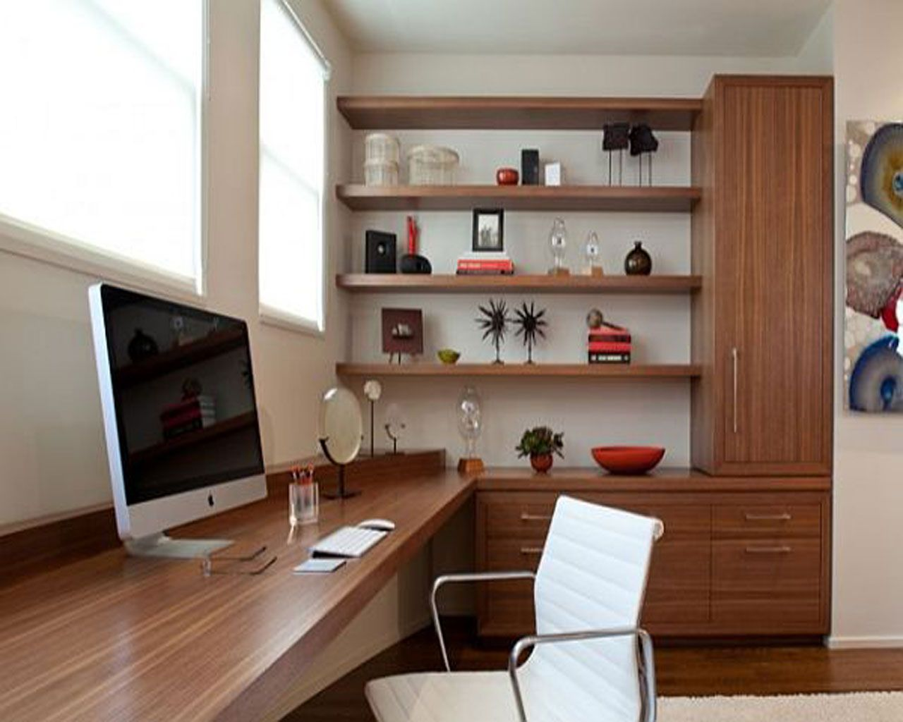 Fit A Small Office In Your Small Home Home Office Design Modern