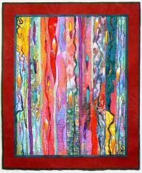 Fiber Art Quilt, Art Wall Hanging, Contemporary Quilt ...