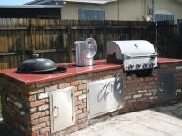 built in weber grill concrete countertop http://www ...