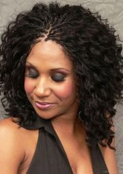 braid with curls hairstyles fade