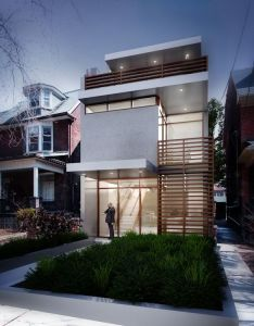 Architecture interior design also narrow house visualizes  contemporary on an urban site rh pinterest