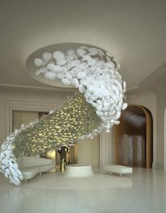 Just love those amazing ideas for an hotel lobby such  unique lighting http also rh pinterest