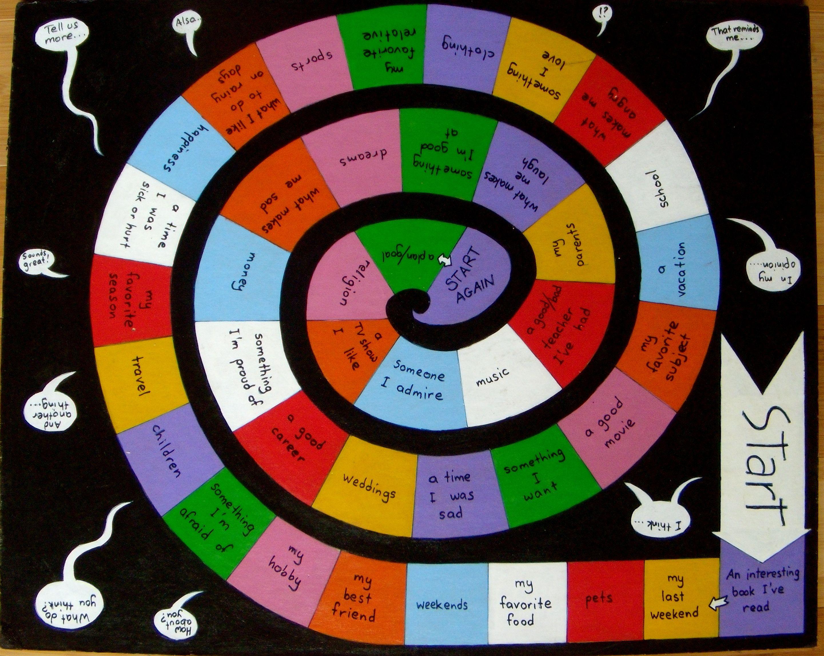 Pattern Board Game Spiral