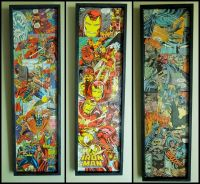 Awesome comic book wall decor! Thor, Iron man and Batman ...