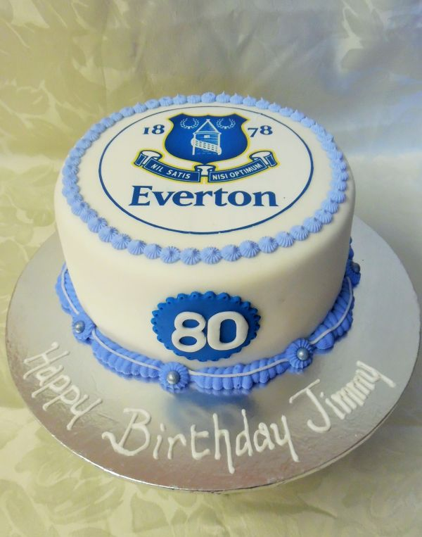 Everton FC Birthday Cake