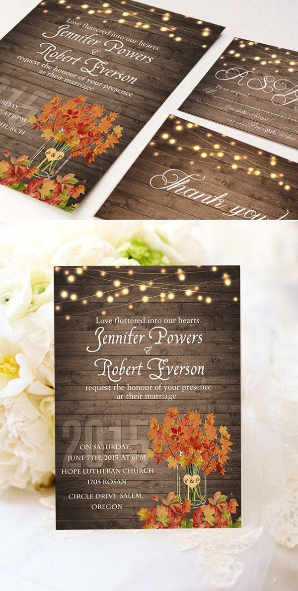 Cheap Fall Wedding Invitations