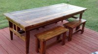 Rustic Farm Table & Benches - plans | Around the House ...