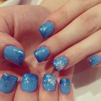 Nails !! Cute nail design , acrylic with gel color and ...