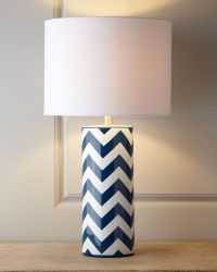 Chevron Table Lamp | Lighting | Pinterest | Chevron table