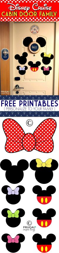 FREE Disney Cruise Door Printables | Cruises, Frugal and ...