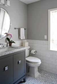 Charming white and gray bathroom