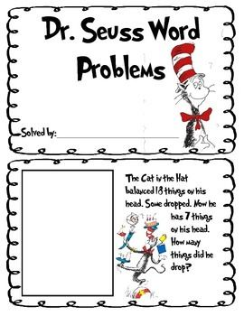 Addition, subtraction and missing part word problems using
